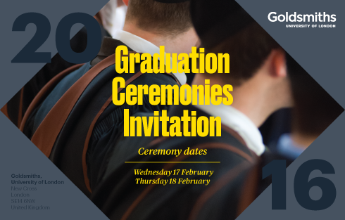Goldsmiths, University of London, Graduation Ceremony 2016