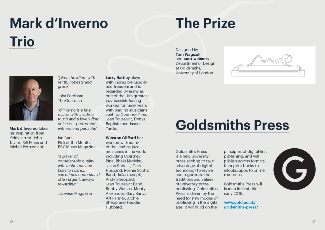 Goldsmiths, University of London, Graphic Design, Visual Identity, Event marketing materials, poster, digital poster, programme booklet