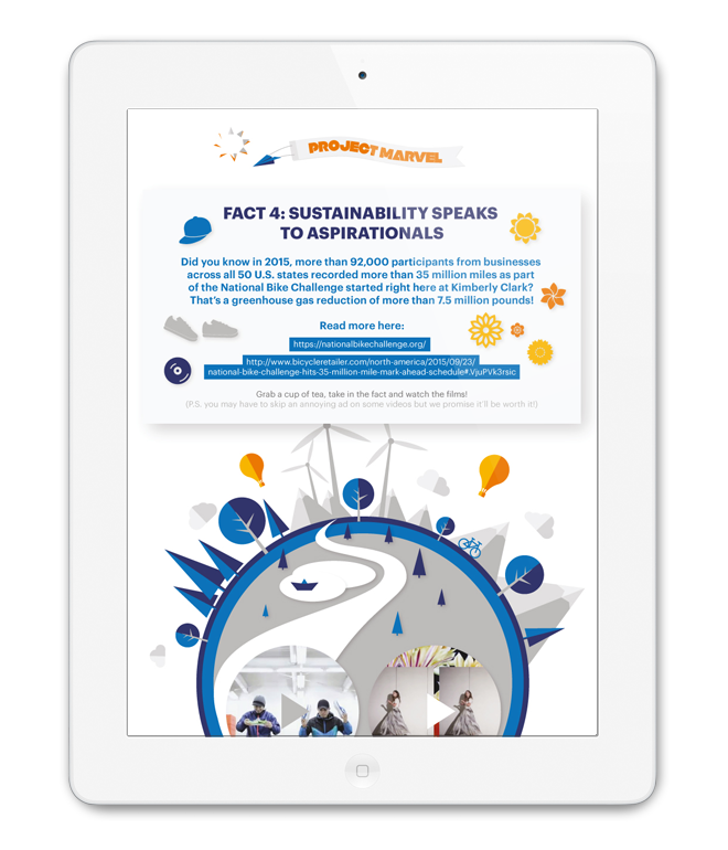 Project Marvel, Kimberly-Clark, workshop, marketing material, infographic, Forum for the Future