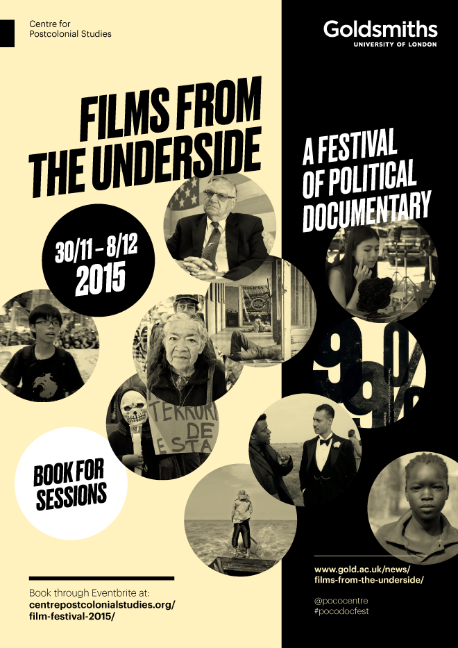 Goldsmiths University of London, Films from the Underside, event poster, event programme booklet